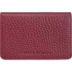 Красно-бордовая визитница из натуральной кожи с мелкозернистой фактурой от Avanzo Daziaro, арт. 017FL 719404