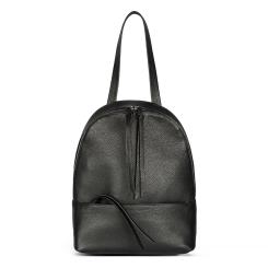 Черный кожаный рюкзак в городском стиле с длинной ручкой от Avanzo Daziaro, арт. 018 101301