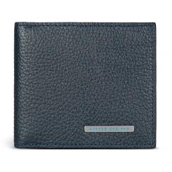 Мужской зажим для денег из натуральной кожи темно-синего цвета от Avanzo Daziaro, арт. 018 166603
