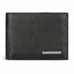 Мужское портмоне двойного сложения из натуральной черной кожи от Avanzo Daziaro, арт. 018 257001