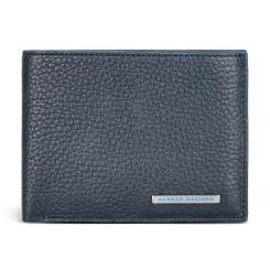 Горизонтальное мужское портмоне из телячьей кожи синего цвета от Avanzo Daziaro, арт. 018 257003