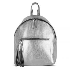 Женский кожаный рюкзак серебристого цвета, из натуральной кожи от Avanzo Daziaro, арт. 018 1017S