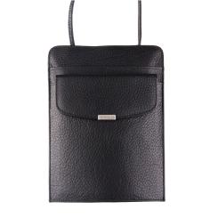 Мужской нагрудный кошелек черного цвета из натуральной кожи от Barkli, арт. 00026-3 black Br