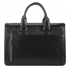 Деловая мужская сумка из натуральной кожи с тремя отделениями от Barkli, арт. 224 03 black Br