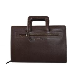 Мужская кожаная папка для документов с двумя отделениями от Barkli, арт. 227 02 coffee Br