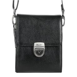 Маленькая мужская сумка с несколькими отделениями из натуральной кожи от Barkli, арт. 303 03 black Br