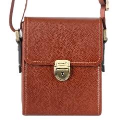Маленькая мужская сумка с одним отделением и регулируемым плечевым ремнем от Barkli, арт. 3423A 01 brown Br
