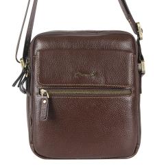 Маленькая мужская сумка с двумя отделениями и длинным плечевым ремнем от Barkli, арт. 504 02 rosolare Br