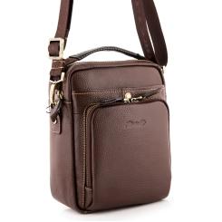 Коричневая мужская сумка под документы, из итальянской натуральной кожи от Barkli, арт. 505 02 rosolare Br