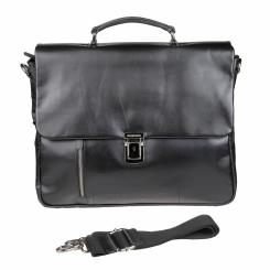 Немецкий мужской портфель натуральной кожи мягкой фактуры черного цвета от Bodenschatz, арт. 8-274 schwarz
