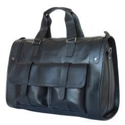Вместительная мужская кожаная дорожная сумка необычной формы от Carlo Gattini, арт. 4001-01