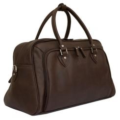 Просторная коричневая мужская дорожная сумка из натуральной кожи от Carlo Gattini, арт. 4005-02