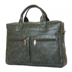 Стильная мужская сумка из натуральной кожи темно-зеленого цвета от Carlo Gattini, арт. 1007-11