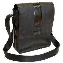 Стильная мужская кожаная сумка планшет  с длинным плечевым ремнем от Carlo Gattini, арт. 5001-01
