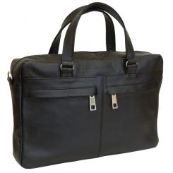Черная мужская сумка из натуральной кожи с ручками и ремнем от Carlo Gattini, арт. 5003-01