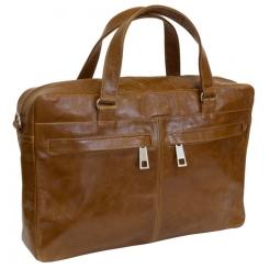 Коричневая мужская сумка из натуральной кожи для ноутбука от Carlo Gattini, арт. 5003-03