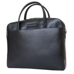 Классическая мужская деловая сумка из черной натуральной кожи от Carlo Gattini, арт. 5005-01