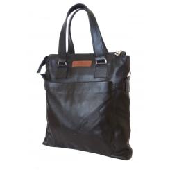 Вместительная мужская сумка из натуральной кожи для документов формата А4 от Carlo Gattini, арт. 5016-01