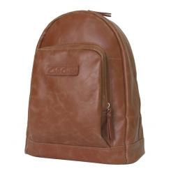 Небольшой женский кожаный рюкзак коричневого цвета, модель в повседневном стиле от Carlo Gattini, арт. 3002-03
