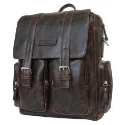 Мужской рюкзак из натуральной кожи темно коричневого цвета от Carlo Gattini, арт. 3003-02