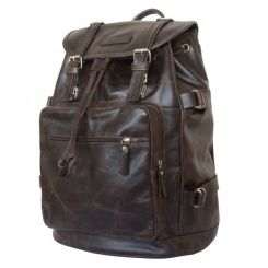 Стильный рюкзак с одним вместительным отделением из натуральной кожи коричневой кожи от Carlo Gattini, арт. 3004-02