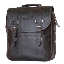 Мужской кожаный рюкзак выполненный в винтажном стиле с удобной ручкой от Carlo Gattini, арт. 3005-02