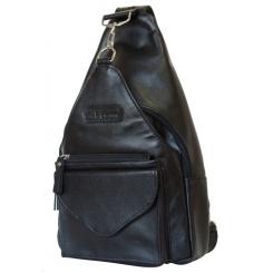 Черный рюкзак трансформер из итальянской натуральной кожи от Carlo Gattini, арт. 3006-01