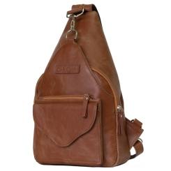 Cтильный кожаный рюкзак трансформер светло коричневого цвета от Carlo Gattini, арт. 3006-03