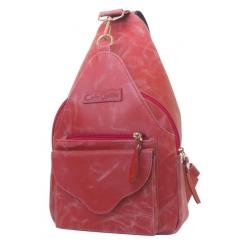 Необычный рюкзак из натуральной кожи красного цвета от Carlo Gattini, арт. 3006-09