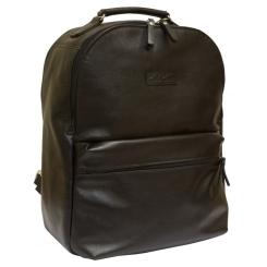 Черный кожаный рюкзак для ноутбука большого размера от Carlo Gattini, арт. 3009-01