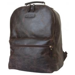 Темно коричневый кожаный рюкзак большого размера от Carlo Gattini, арт. 3009-02
