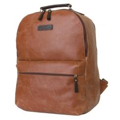 Кожаный рюкзак коньячного цвета для большого ноутбука от Carlo Gattini, арт. 3009-03