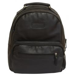 Черный мужской рюкзак из натуральной кожи для ношения по городу от Carlo Gattini, арт. 3010-01