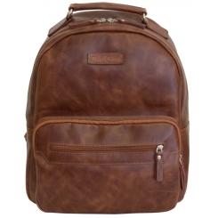 Кожаный мужской рюкзак коричневого цвета в городском стиле от Carlo Gattini, арт. 3010-03