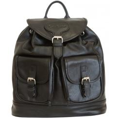 Стильный черный рюкзак из натуральной кожи от Carlo Gattini, арт. 3011-01