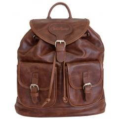 Стильный коричневый рюкзак из натуральной кожи от Carlo Gattini, арт. 3011-03