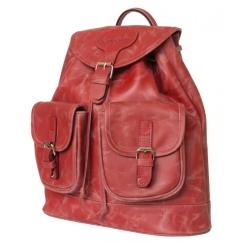 Стильный женский рюкзак с одним отделением из натуральной кожи красного цвета от Carlo Gattini, арт. 3011-09