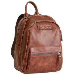 Женский кожаный рюкзак коньячного цвета небольшого размера для ношения по городу от Carlo Gattini, арт. 3012-03