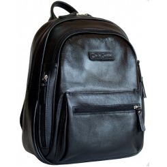 Черный стильный кожаный рюкзак для повседневного ношения от Carlo Gattini, арт. 3013-01