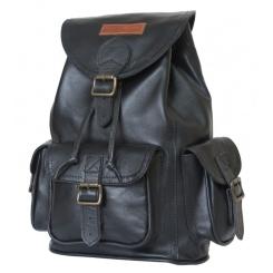 Женский рюкзак из натуральной кожи черного цвета в спортивном стиле для ношения по городу от Carlo Gattini, арт. 3015-01
