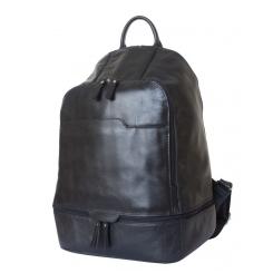 Мужской кожаный рюкзак в городском стиле черного цвета от Carlo Gattini, арт. 3023-01