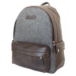 Стильный рюкзак небольшого размера из натуральной кожи и войлока от Carlo Gattini, арт. 3024-04