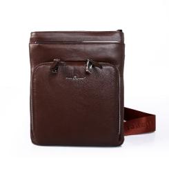 Стильная мужская сумка планшет небольшого размера из натуральной кожи от Dor. Flinger, арт. 81280 028 licht kaffee DF