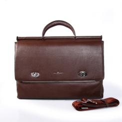 Удобный мужской портфель из натуральной кожи светло-коричневого цвета от Dor. Flinger, арт. 81260 028 licht kaffee DF