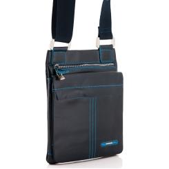Стильная мужская сумка планшет из натуральной кожи синего цвета от Dor. Flinger, арт. 0610 624 blue DF