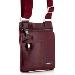 Сумка планшет маленького размера из натуральной кожи красно-коричневого цвета от Dor. Flinger, арт. 0610 629 rosso DF