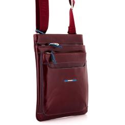 Мужская сумка планшет из натуральной кожи красно-коричневого цвета от Dor. Flinger, арт. 0616 629 rosso DF