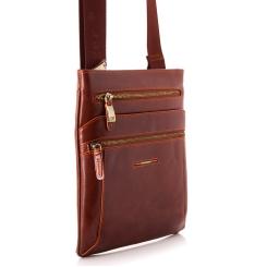 Стильная мужская сумка планшет из натуральной кожи коричневого цвета от Dor. Flinger, арт. 0619 625A brown DF