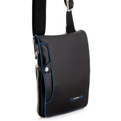 Стильная маленькая мужская сумка через плечо из натуральной кожи от Dor. Flinger, арт. 236-1 026 black DF