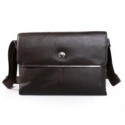 Стильная мужская кожаная сумка через плечо с одним отделением от Dor. Flinger, арт. 0890 029 dunkel kaffeeDF